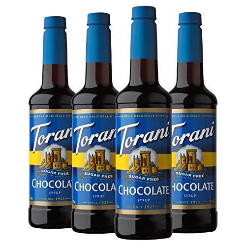 Torani Sugar Free Syrup, Chocolate, 25.4 Ounces (Pack of 4)