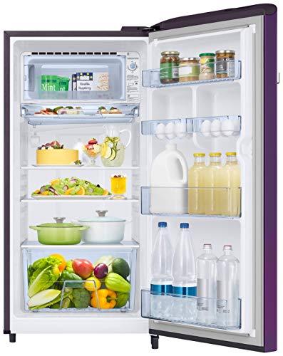 Samsung 198 L 5 Star Inverter Direct-Cool Single Door Refrigerator (RR21T2G2WCR/HL, Camellia Purple) 5