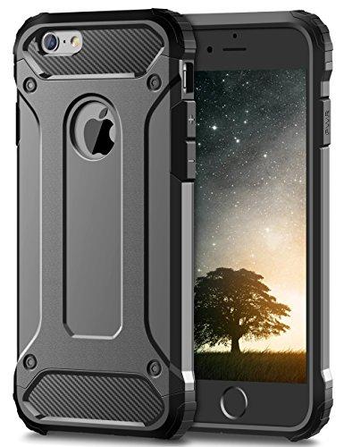 Coolden iPhone 6S Plus Hülle, Premium [Armor Serie] iPhone 6 Plus Outdoor Stoßfest Handyhülle Silikon TPU + PC Bumper Cover Doppelschichter Schutz Hülle für iPhone 6 Plus/6S Plus (Grau)