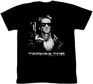 Terminator The Terminate Arnold Schwarzenegger Adult Black T-Shirt