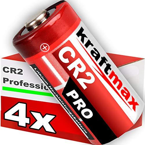 kraftmax 4er Pack CR2 Lithium Hochleistungs- Batterie für professionelle Anwendungen - Neueste Generation