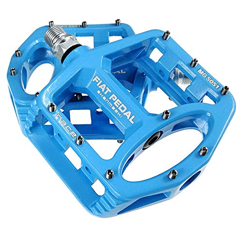 AODDING Bike Bicycle Pedals, Lightweight Non-Slip, Cycling Bike Pedals for MTB, Mountain Road Bicycle Flat Pedal Blue