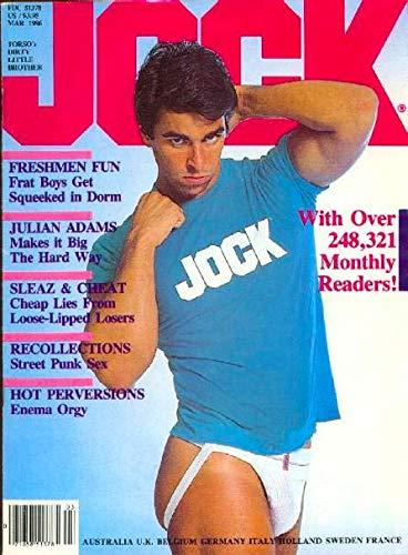 Jock Gay Adult Magazine 'Freshmen Fun, Frat Boys Get Squeeked in Dorm' March 1986