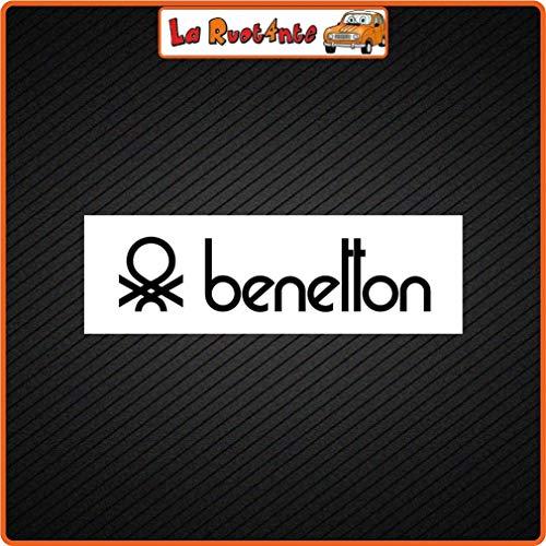 La Ruotante 2 Stickers Benetton (Vinyl) Auto Motorfiets Vespa Fiets Helm Jas Link Schoenen 20x6 Cm