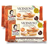 Vicenzovo Ladyfingers by Matilde Vicenzi | Classic Italian Ladyfingers for Tiramisu | Made in Italy | Tray of 12 Cookies-7.05 oz (200g), 2-Pack | All-Natural, Kosher, Dairy
