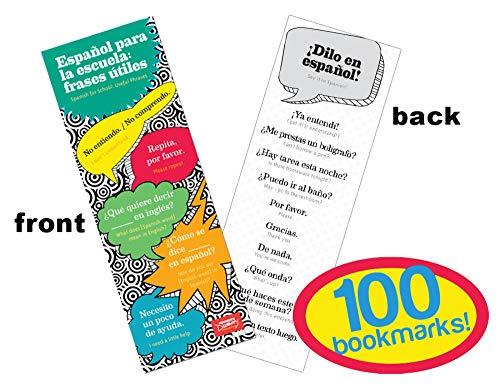Useful Phrases Spanish Bookmarks (100)