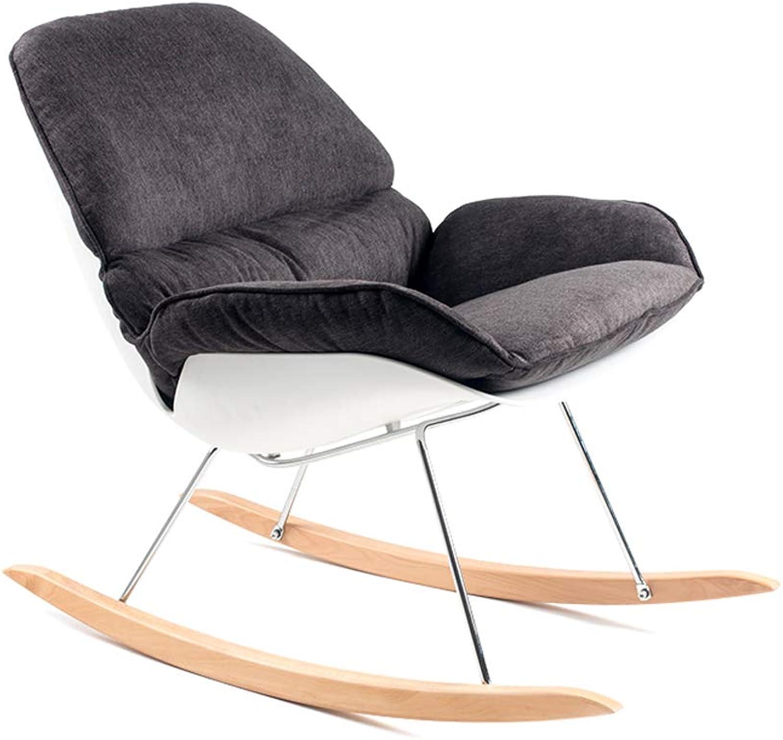 MSNDIAN Schaukelstuhl Freizeit Liegestuhl Erwachsenen Lazy Chair Balkon Nickerchen Hause Schaukelstuhl Schlafzimmer Sofa Stuhl Einfacher Klappstuhl