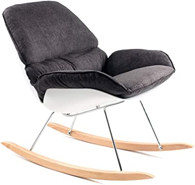 DQMSB Nordic Rocking Chair Leisure Lounge Chair Easy Chair Adult Lazy Chair Balcony Nap Home Rocking