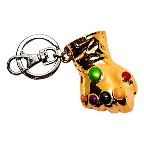 Marvel Schlüsselanhänger Captain America Schild bunt, aus Metall, mit Minikarabiner.