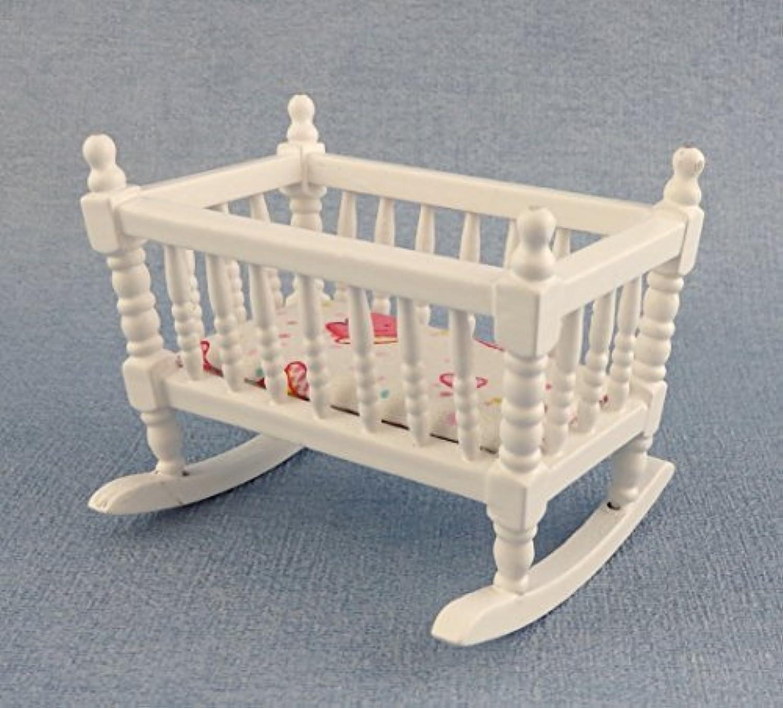 punto de venta Dolls House Nursery Furniture Rocking Cradle Cradle Cradle Cot Wh384 by Town Square Miniatures  ahorrar en el despacho