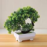 Künstliche Pflanzen Topf Bonsai dekorative grüne kleine Bäume gefälschte Blumen Party Office Tisch Ornament für Hausgarten Dekoration - TypA2, a1