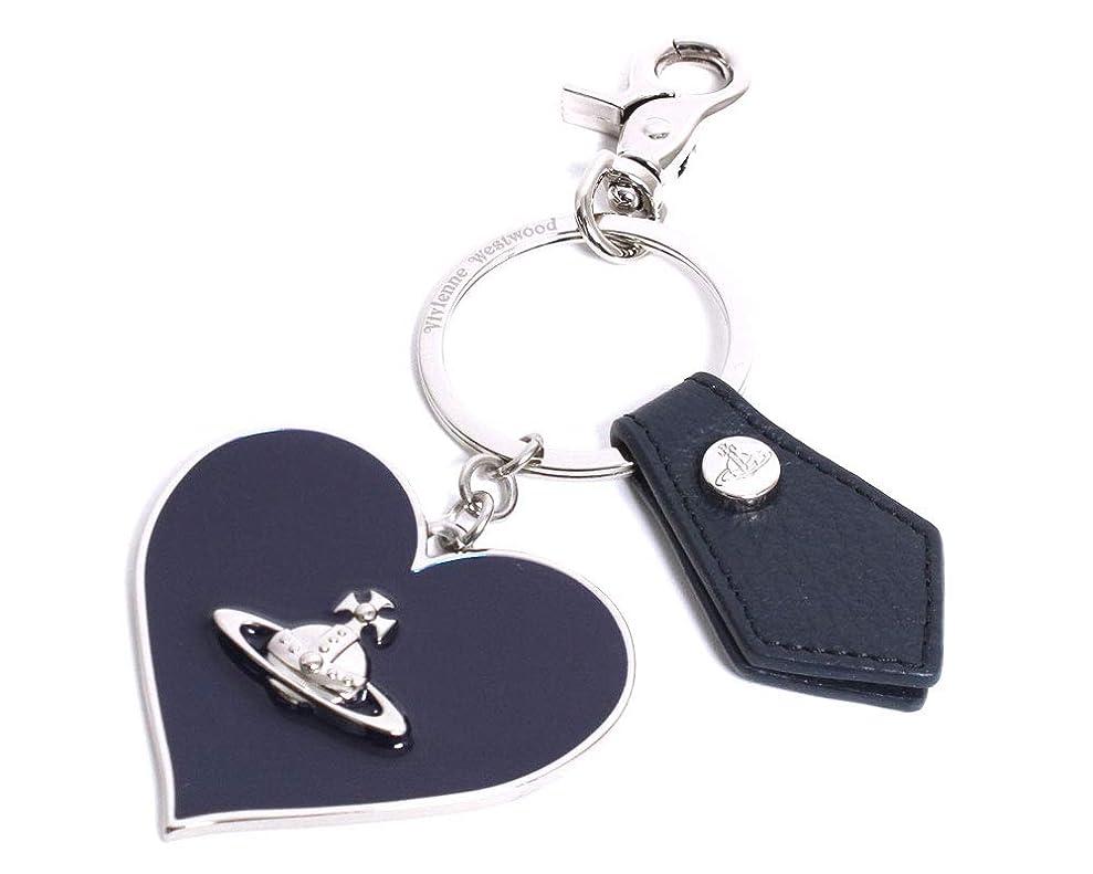 遵守するファンブルとらえどころのない(ヴィヴィアン?ウエストウッド) Vivienne Westwood チャーム MIRROR HEART キーホルダー キーリング 82030008 00377 K401 BLUE ネイビーブルー [並.