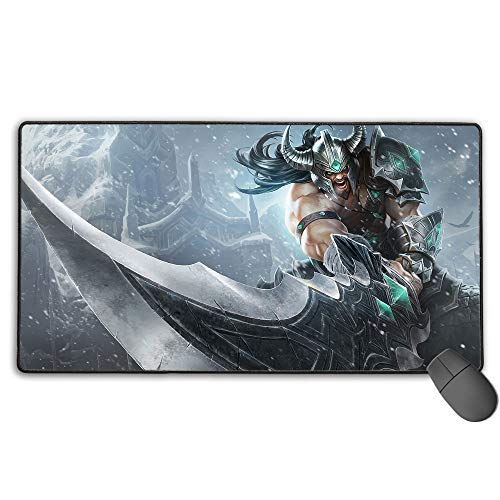 Extra Extended Large Mouse Pad for League Legends tryndamere, Computer Keyboard Mouse Mat Computer Keyboard Pad Mat for PC Computer Laptop 11.8x31.5 in(30cm X 80cm)