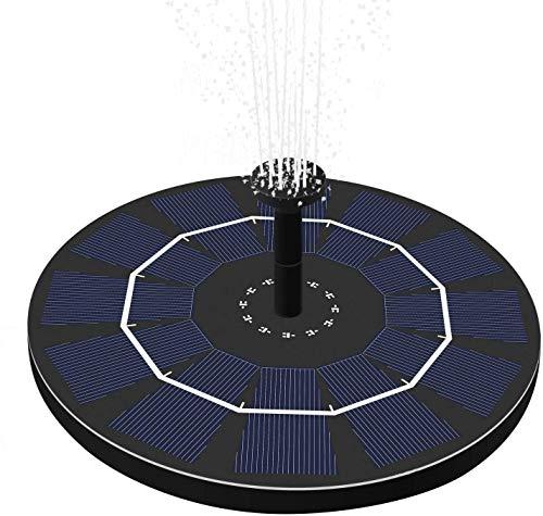 Solar Springbrunnen, OriFiil 2.5W Solar Teichpumpe Eingebaute Batterie Wasserpumpe Solar Schwimmender Fontäne Pumpe mit 5 Fontänenstile für außen, Garten, VogelBad,Teich,Fisch-Behälter