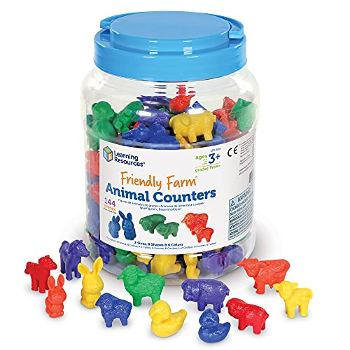 Learning Resources Friendly Farm Counters, Set of 144