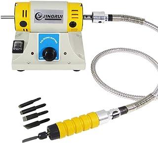 YJINGRUI Elektrische beitel Carving Tool Houtsnijmachine Houtbewerking Beitel (Host + Beitel + As) (220-230V)