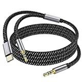 MOSWAG 3.5mm Male to Male Stereo Aux Cord 6.6 Feet/2M with USB C to 3.5mm Audio Aux Jack Cable Compatible with Google Pixel 2 3 XL Moto Z Galaxy Note10+ Huawei HTC