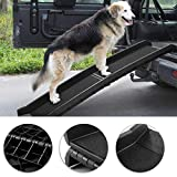 TOBBI 62'' Bi-fold Portable Dog Ramp for Large Pet Folding Trunk Back Seat Ladder Step Car SUV 62'