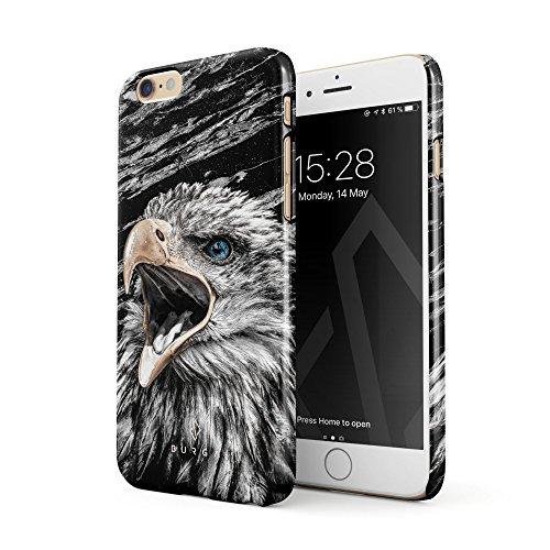 BURGA Hülle Kompatibel mit iPhone 6, iPhone 6s Handy Huelle Vogel Wild Adler Eagle Savage Dünn, Robuste Rückschale aus Kunststoff Handyhülle Schutz Case Cover