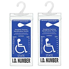Handicapped Placard Holder size: 10.6 inch x 5 inch (270mmx 127mm). NOTE: Placard is NOT include. Please check your placard size before buying. This placard cover will not fit for old style NC handicap tag. The Handicap Tag Holder built in large plas...