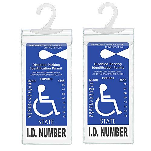 Handicap Parking Placard Holder, Ultra Transparent Disabled Parking Permit Placard Protective Holder Cover with Large…