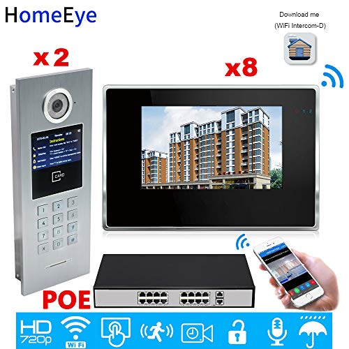 Best Buy! 720P WiFi IP Video Door Phone Intercom Video Door Bell 7 inch Touch Screen Home Access Con...