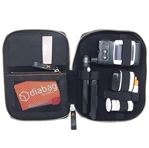 diabag ONE Plus Hochwertige Diabetikertasche für unterwegs aus isolierendem Nylon I Tasche für Insulin Pen - Stechhilfe - Blutzucker Messgerät - Teststreifen I 12 x 17,5 x 3 cm