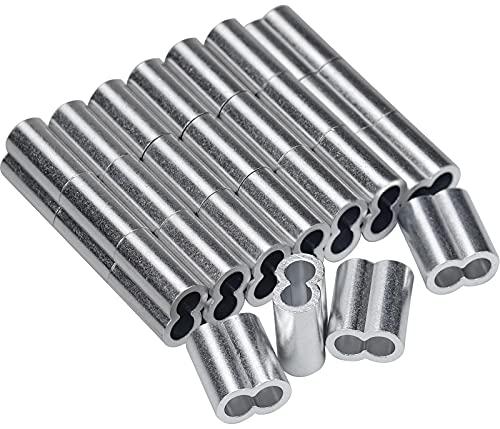 25 Piezas Aluminio Engarzado de Las Mangas de Bucle 8 mm Virolas...