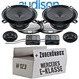 Audison APK-130-13cm Lautsprecher System - Einbauset für Mercedes W123 Heck - JUST SOUND best choice for caraudio