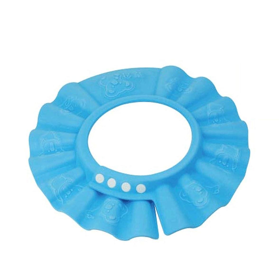 暴行提案する余計な家庭用品 シャワーキャップベビーシャンプーキャップチャイルドシャンプーキャップ調整可能な防水イヤープロテクター (Color : A)