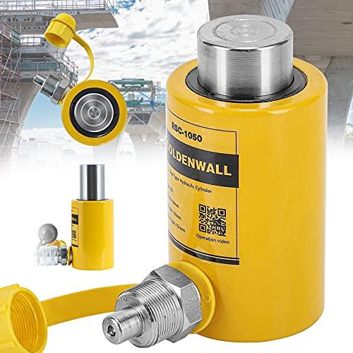 CGOLDENWALL Gato Hidráulico de Botella 10T Elevador Hidráulico Profesional de Trazo 50mm, Gran Área Efectiva 15.89m㎡, Auto-altura 104mm (10T)