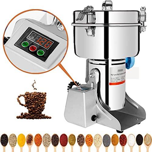 Marada 2000g Electric Mill Grinder Stainless Steel 110V Pulverizer Grinding Machine for Kitchen Herb Spice Pepper Coffee Powder Grinder (2000g)