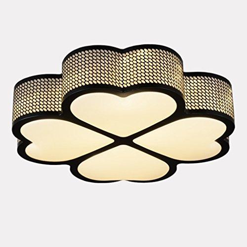 Mode Eclairage de plafond-WXP Lampe de chambre à coucher principale romantique chaleureuse Moderne Simple Love Shape Lighting Salle d'enfants Lumières Clover plafonnier Luminaires intérieur-WXP ( Couleur : Noir )