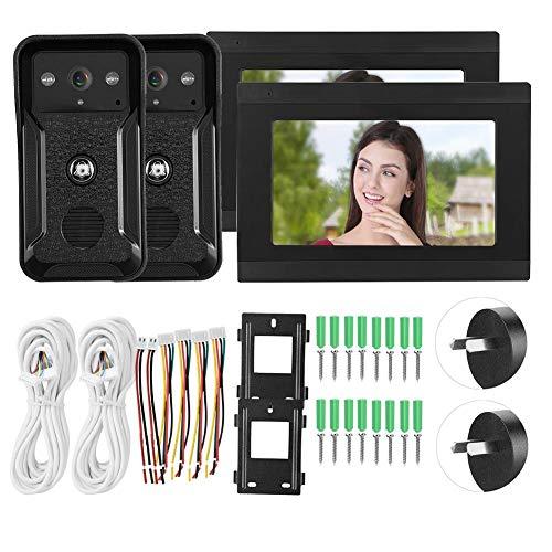 Cosiki Videoportero, Videoportero Nocturno, Monitores WiFi Sistema de 7 Pulgadas para Apartamentos a Todo Color(Australian regulations)