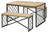ACME Catalina Dining Set (3 Pack), Light Oak and Gray