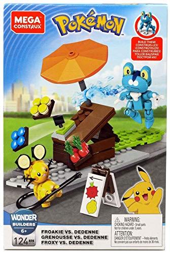 Mega Construx Pokémon Froakie vs Dedenne, Set di Costruzione, 120+ Pezzi, Giocattolo per Bambini 6+ Anni, GFV78