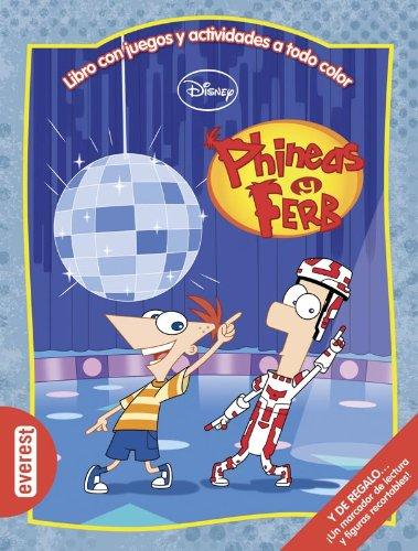 Phineas y Ferb. Libro con juegos y actividades a todo color: Y DE REGALO... ¡Un marcador de lectura y figuras recortables! (Multieducativos Disney)