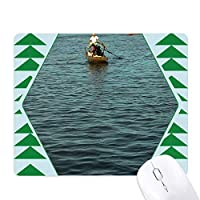 フィッシャーマン湖 オフィスグリーン松のゴムマウスパッド