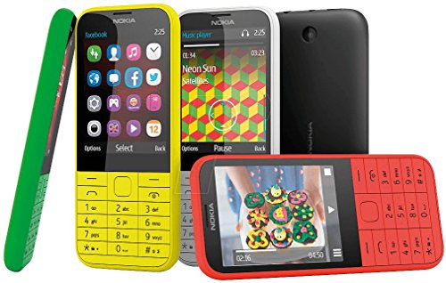Nokia A00019213 225 Mobiltelefon (7,10 cm (2,8 Zoll) Bildschirm, 2 Megapixel Kamera, Micro-USB 2.0, Bluetooth 3.0, Mini-SIM, UKW-Radio) schwarz
