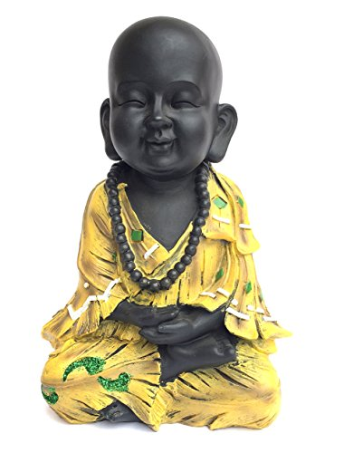 OMA Baby Buddha Meditating Yogi Statue Coin Bank Buddha Good Fortune Home Decor Gift