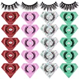 MAANGE 20 Pairs 4 Styles Eyelashes, 3D Natural Faux Mink Lashes Pack, Handmade Reusable False Eyelashes Soft Fake Eyelashes (20 Pairs & Portable Boxes)