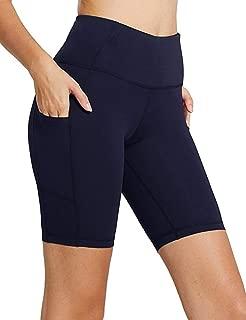 Sudawave 女式 20.32 厘米高腰收腹锻炼瑜伽短裤带侧口袋