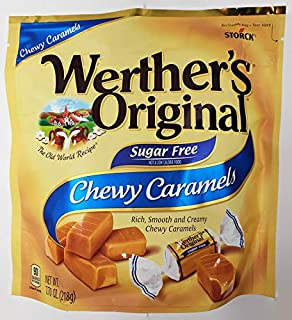 Werther's Original Sugar Free Chewy Caramels, 7.7 oz., Individually Wrapped
