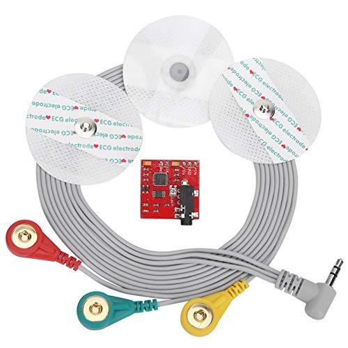 Sensor de señal muscular, sensor electromiográfico de señal muscular con línea de conexión EMG, para microcontroladores, cómodo de usar (sensor MG)