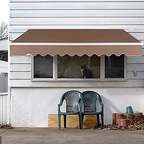 HTDHS Toldo de Patio retráctil, tolera de toldo de Sol Impermeable con Marco de Aluminio y manivela Manual, para Patio de Patio, marrón, 3x2.5m