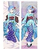 Anime Re Zero Dakimakura Rem Kawaii Kimono Hugging Body Pillow Cover Anime Girls Cosplay DIY Custom 14'X39'
