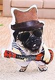 Personalidad Guitarra simulación juguete suave lindo Perro relleno juguetes creativos El perro rabioso felpa de juguete de regalo Cojín Almohada Vivid Acogedoras Almohada de regalo de San Valentín de
