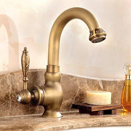 NJIANGHUA Keukenkraan Messing Wastafelkraan Warm Enkel Handvat En Toilet Wastafelkranen Kristal En Geborstelde Keukenkraan