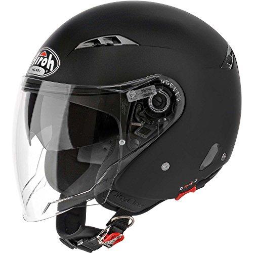Airoh CO11 Motorrad Helm City One, Größe : M, Schwarz