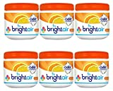 Bright Air Solid Air Freshener and Odor Eliminator, Mandarin Orange and Fresh Lemon Scent, 14 Oz Each, 6 Pack